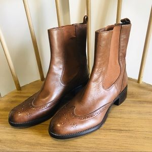 NWOT! Franco Sarto Brown Leather Justify Boots
